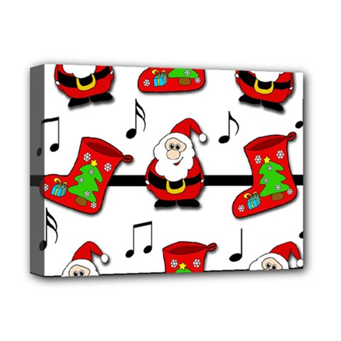 Christmas Song Deluxe Canvas 16  X 12   by Valentinaart