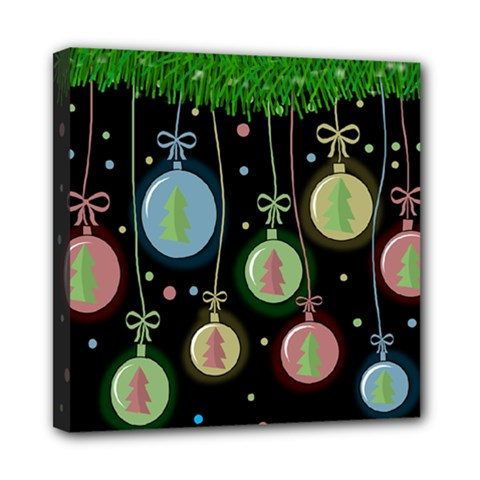 Christmas Balls   Pastel Mini Canvas 8  X 8  by Valentinaart