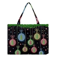 Christmas Balls   Pastel Medium Tote Bag by Valentinaart