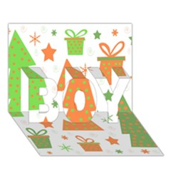 Christmas Design   Green And Orange Boy 3d Greeting Card (7x5) by Valentinaart