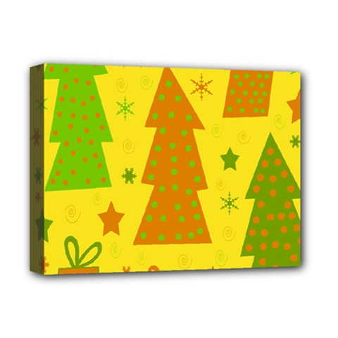 Christmas Design   Yellow Deluxe Canvas 16  X 12   by Valentinaart