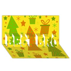 Christmas Design   Yellow Best Bro 3d Greeting Card (8x4) by Valentinaart