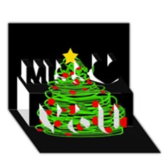 Christmas Tree Miss You 3d Greeting Card (7x5) by Valentinaart