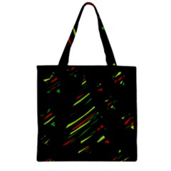 Abstract Christmas Tree Zipper Grocery Tote Bag by Valentinaart