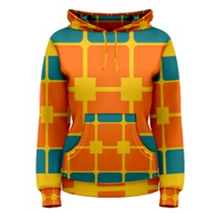 Squares And Rectangles                                                                                                Women s Pullover Hoodie by LalyLauraFLM