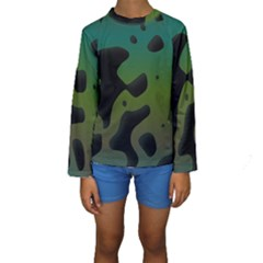 Black Spots On A Gradient Background                                                                                                   Kid s Long Sleeve Swimwear by LalyLauraFLM