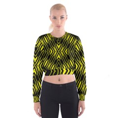 Yyyyyyyyy Women s Cropped Sweatshirt by MRTACPANS