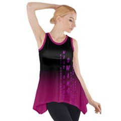 Wcs   Pink Purple Side Drop Tank Tunic