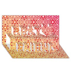 Orange Ombre Mosaic Pattern Best Friends 3d Greeting Card (8x4) by TanyaDraws