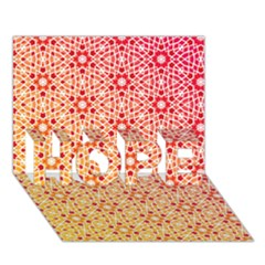 Orange Ombre Mosaic Pattern Hope 3d Greeting Card (7x5) by TanyaDraws