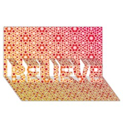 Orange Ombre Mosaic Pattern Believe 3d Greeting Card (8x4) by TanyaDraws