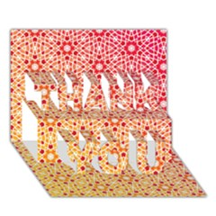 Orange Ombre Mosaic Pattern Thank You 3d Greeting Card (7x5) by TanyaDraws