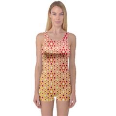 Orange Ombre Mosaic Pattern One Piece Boyleg Swimsuit by TanyaDraws