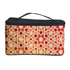 Orange Ombre Mosaic Pattern Cosmetic Storage Case by TanyaDraws