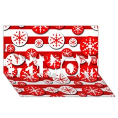 Snowflake Red And White Pattern #1 Mom 3d Greeting Cards (8x4) by Valentinaart