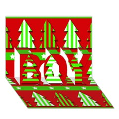 Christmas Trees Pattern Boy 3d Greeting Card (7x5) by Valentinaart