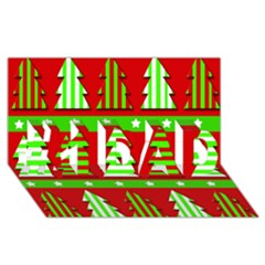Christmas Trees Pattern #1 Dad 3d Greeting Card (8x4) by Valentinaart