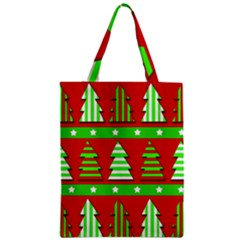 Christmas Trees Pattern Zipper Classic Tote Bag by Valentinaart