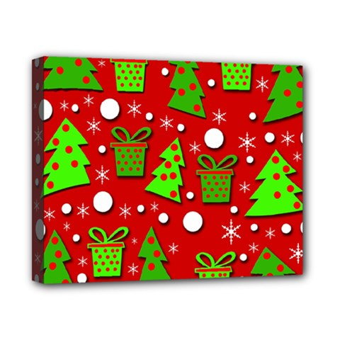 Christmas Trees And Gifts Pattern Canvas 10  X 8  by Valentinaart