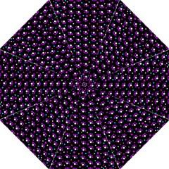 Purple dots pattern Hook Handle Umbrellas (Large) by Valentinaart