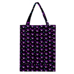 Purple Dots Pattern Classic Tote Bag by Valentinaart