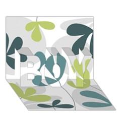 Elegant Floral Design Boy 3d Greeting Card (7x5) by Valentinaart