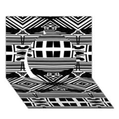 Si Ber Linx Circle 3d Greeting Card (7x5) by MRTACPANS