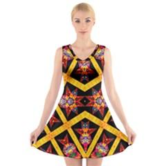 TITRE TERRE V-Neck Sleeveless Skater Dress