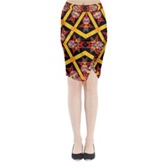 TITRE TERRE Midi Wrap Pencil Skirt