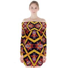 TITRE TERRE Long Sleeve Off Shoulder Dress