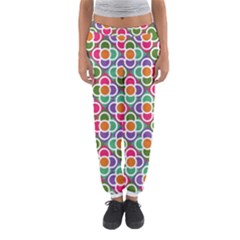 Modernist Floral Tiles Women s Jogger Sweatpants by DanaeStudio