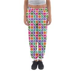 Modernist Floral Tiles Women s Jogger Sweatpants by DanaeStudio