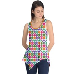 Modernist Floral Tiles Sleeveless Tunic by DanaeStudio