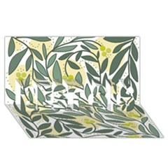 Green Floral Pattern Best Sis 3d Greeting Card (8x4)
