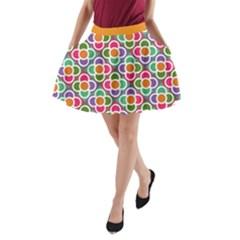 Modernist Floral Tiles A Line Pocket Skirt by DanaeStudio
