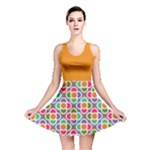 Modernist Floral Tiles Reversible Skater Dress