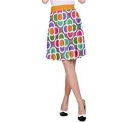 Modernist Floral Tiles A Line Skirt by DanaeStudio