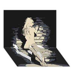 18 Sexy Conte Sketch Blonde Girls Ass Naked Under Garage Wall Door Love Bottom 3d Greeting Card (7x5) by PeterReiss