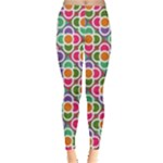 Modernist Floral Tiles Leggings