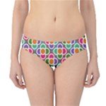 Modernist Floral Tiles Hipster Bikini Bottoms