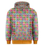 Modernist Floral Tiles Men s Zipper Hoodie