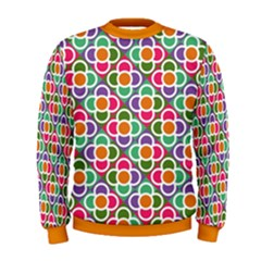 Modernist Floral Tiles Men s Sweatshirt by DanaeStudio