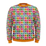 Modernist Floral Tiles Men s Sweatshirt