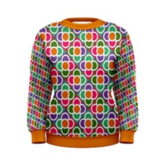 Modernist Floral Tiles Women s Sweatshirt by DanaeStudio