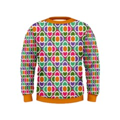 Modernist Floral Tiles Kids  Sweatshirt by DanaeStudio
