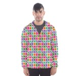 Modernist Floral Tiles Hooded Wind Breaker (Men)