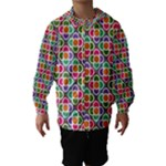 Modernist Floral Tiles Hooded Wind Breaker (Kids)