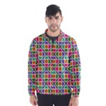 Modernist Floral Tiles Wind Breaker (Men)