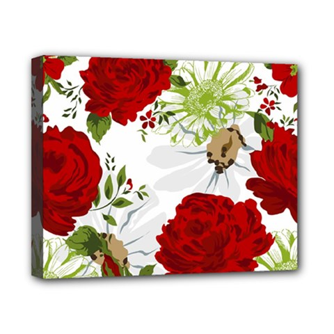 Red Roses Canvas 10  X 8  by fleurs