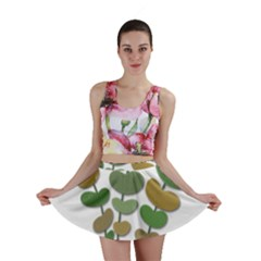 Green Decorative Plant Mini Skirt by Valentinaart